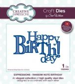 Sue Wilson Craft Dies - Expressions - Ransom Note Birthday – CED5432